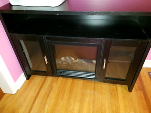 tv fire place stand