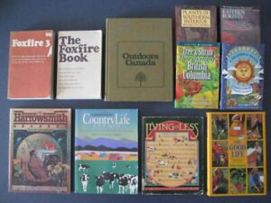 Interesting and rare books about country living and outdoors