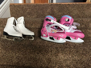 Two pairs of skates for $25 each. Firm.