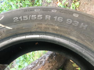 4 Pneus Tires Continental - 215/55 R 16 93H Ford Focus