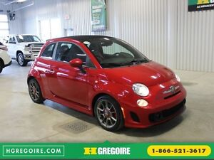 2013 Fiat 500 Abarth Turbo Convertible (Cuir-Mags-Bluetooth)