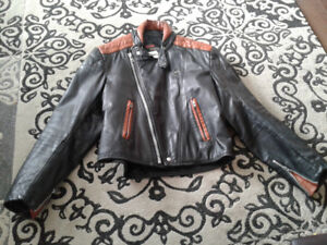 BRISTOL Black with brown leather jacket