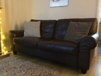 Leather sofa suite,3seater&2seater.