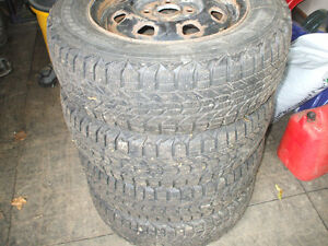 WINTER TIRES AND RIMS 175 70r13  4x100