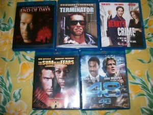 5 BLURAY MOVIES                       FOR SALE