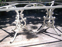 Vintage Hauser decorative iron dining table (indoor/outdoor)