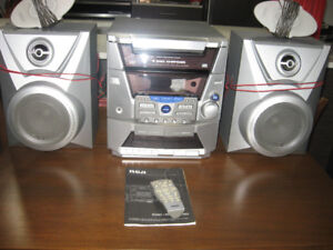 RCA RS2602 Stereo System & 52 Cassettes
