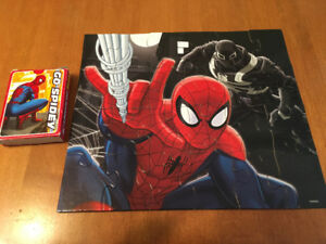 SPIDER-MAN puzzle and card game