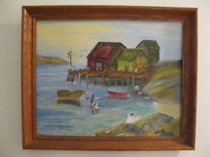 1978 Painting by Helen Jollimore - Rare Nova Scotia art