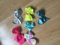 Girls mojo bows and hairbands