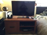 Samsung lcd and blue ray player and Xbox 360 and wifi headset and TVs unit