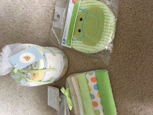 Brand new baby wash clothes and sponge