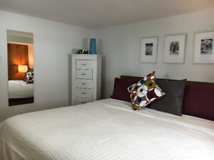 charning, spacious, furnished 3 bedroom west side garden suite