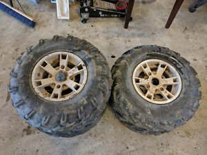Rims and tires off can-am outlander