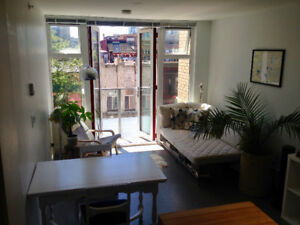 Bright, Modern Studio sublet in Chinatown - Aug-Sep