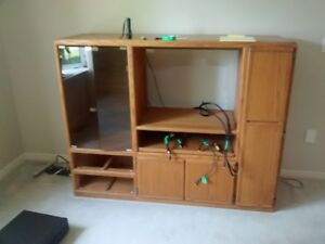 SOLID OAK  TV   CABINET....NEW LOWER PRICE
