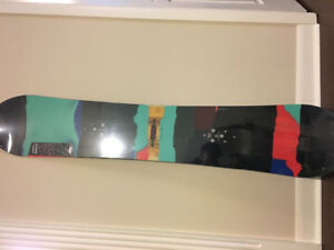 Unused Burton V-Rocker snowboard and bindings for sale