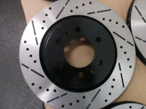2004 - 2008 Acura TSX**CROSS DRILLED & SLOTTED BRAKE ROTORS**