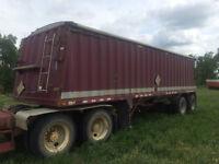 Doepker 32 foot grain trailer.