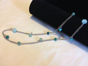Silver necklace with beads London Ontario image 1