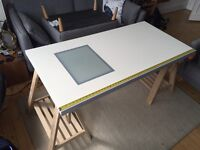 IKEA drawing table with transparent screen for tracing