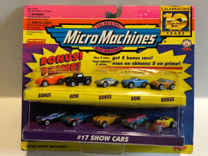 Micro Machines  # 17 Show Cars Set of 10 Cars