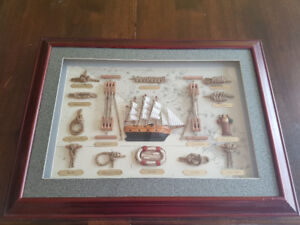 Mayflower Boating Knots Wood Shadow Box /Nautical Decor