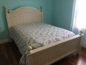 Queen/Double bed and matching dresser (mattress not included)