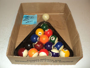 Junior Set of Pool Balls w/ Rack + TWO POOL STICKS - ALL for $25
