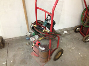 Acetylene b tanks torches and cart