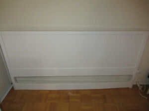 White double-bed headboard
