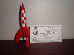 Tintin fusée pixi objet du mythe