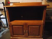 ~ TV or MICROWAVE CABINET - SOLID WOOD ~  OBO