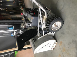 White Commercial 33 inch snow blower for sale.
