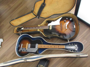 (2) Guitares  1963's KAY - made in USA Value Leader + Kay Galaxi