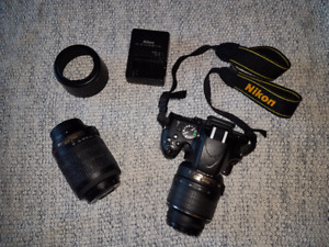 Nikon D5100 with 2 lenses in great condition