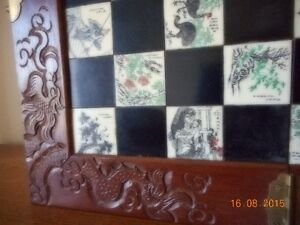 Chinese Hand Carved wooden chess case with hand carved pieces Kingston Kingston Area image 3