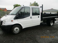 FORD TRANSIT 350 DOUBLE CAB TIPPER £8995+VAT