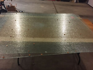 Deck Glass.........Raindrop privacy and clear