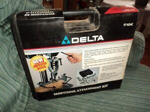 Delta mortising attachment kit