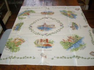 VINTAGE IRISH TABLE CLOTH (DUBLIN) # 2