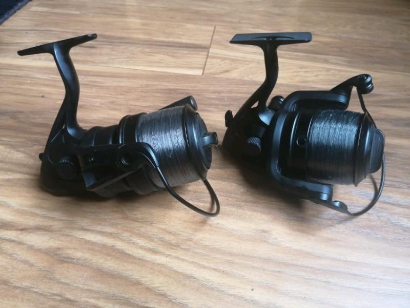 3 x Nash BP-6 Fast Drag Matt Black Carp Fishing Reel