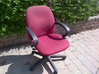 Global red office / task / desk chairs (9 styles available)