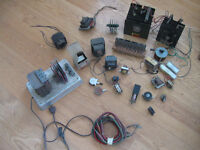 Transformers, rectifiers, and parts,  for a model railroad