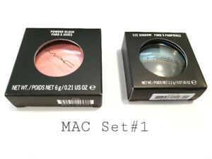 MAC MAKEUP SET#1 : EYE SHADOW + POWDER BLUSH