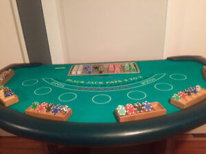 Retired blackjack table from leithbridge casino
