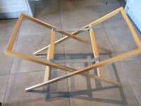 Mamas and Papas wooden Moses basket stand