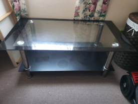 Glass Coffee table /tv stand