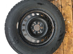 Four Hercules Avalanche X-treme Winter Rims And Tires Studded.