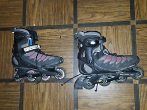 Evo 05 rollerblades with wrist guards, size 10